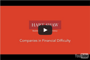 Watch our video about companies in financial difficuly.